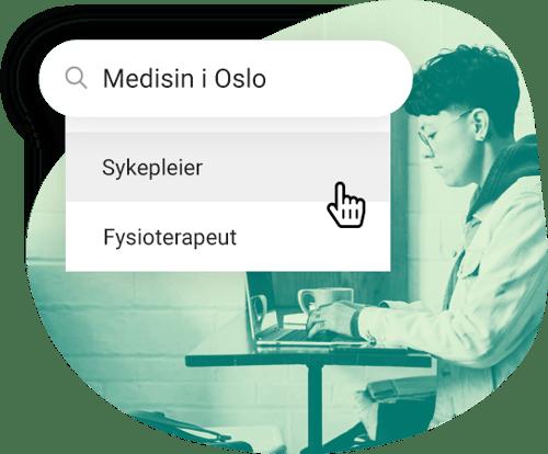 Person som søker utdanning innen medisin i Oslo